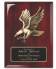 Rosewood Piano Finish Plaque with Eagle Casting Cast Relief Plaques