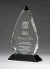 Arrow Series Crystal Award with Black Accent Colored Awards