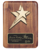Rounded Edge Solid Walnut with Star Casting Employee Awards