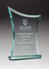 Contemporary Jade Glass Award with Oval-Shaped Base Employee Awards
