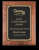 Rounded Edge Solid Walnut Plaque Employee Awards