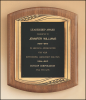 American Walnut Plaque with Antique Bronze Frame Featured Items