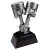 Antique Silver Piston Resin Misc. Resin Trophy Awards