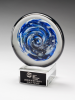 Blue and White Disc Art Glass Award Sales Awards
