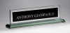 Glass Name Plate with Black Center Secretary Gift Awards
