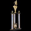 Three Post 2-Tier Trophy -Soccer Two Tier Trophies