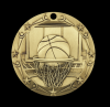 Basketball World Class Medallion Winter Sports Awards
