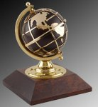 R0441 - Brass Globe and Wood Pedestal 16. Regal Gifts