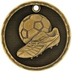 3-D Medal -Soccer 3-D Series Medal Awards