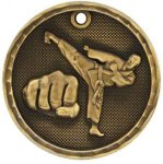 3-D Medal -Martial Arts 3-D Series Medal Awards