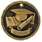 3-D Medal -Graduate 3-D Series Medal Awards