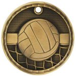 3-D Medal -Volleyball 3-D Series Medal Awards