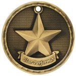 3-D Medal -Star Performer 3-D Series Medal Awards