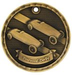 3-D Medal -Pinewood Derby 3-D Series Medal Awards