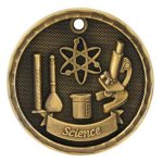 3-D Medal -Science 3-D Series Medal Awards