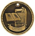 3-D Medal -Reading 3-D Series Medal Awards