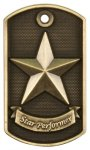3-D Star Performer Dog Tag Medal_ 3D Dogtag Medallion Awards