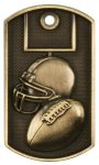 3-D Football Dog Tag Medal 3D Dogtag Medallion Awards
