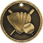 3-D Medal -Baseball 3D Medal Medallion Awards