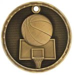 3-D Medal -Basketball 3D Medal Medallion Awards