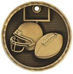 3-D Medal -Football 3D Medal Medallion Awards
