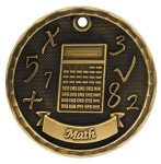 3-D Medal -Math 3D Medal Medallion Awards