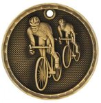 3-D Medal -Bicycling 3D Medal Medallion Awards