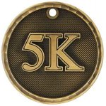 3-D Medal -5K 3D Medal Medallion Awards