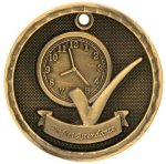 3-D Medal -Perfect Attendance 3D Medal Medallion Awards