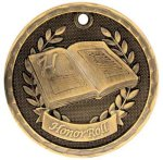 3-D Medal -Honor Roll 3D Medal Medallion Awards