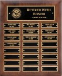 R1065 - Genuine Walnut Plaque - 24 Plates 6. Plaques
