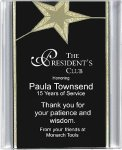 Black/Gold Star Acrylic Award Recognition Plaque Acrylic Plaques