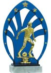 Soccer Trophy with Backdrop on a Base Backdrop Trophies
