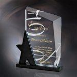 Ionia Black Optical Crystal Awards