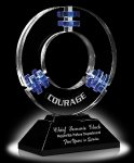 Galaxy Quest Blue Optical Crystal Awards