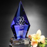 Azurite Award Blue Optical Crystal Awards