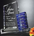 Glendale Goal-Setter Blue Optical Crystal Awards