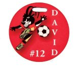 Glossy Round Sport Bag Tag Boss Gift Awards
