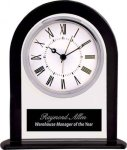 Black/Clear Glass Clock Boss Gift Awards