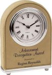Light Brown Leatherette Arch Clock Boss Gift Awards