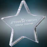 Crystal Star Paperweight Boss Gift Awards