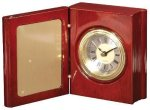 Rosewood Piano Finish Book Clock Boss Gift Awards