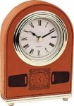 Rawhide Leatherette Arch Desk Clock Boss Gift Awards