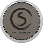 Leatherette Round Coaster with Silver Edge -Gray Circle Awards