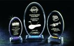 Beveled Oval Acrylic Award Circle Awards