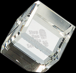 Crystal Cube Paperweight Clear Awards