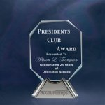 Impressions Octagon Clear Glass Awards