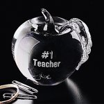 Apple Paperweight Clear Glass Awards