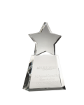 Clear Star on Clear Base Clear Optical Crystal Awards