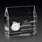 House of Time Clear Optical Crystal Awards